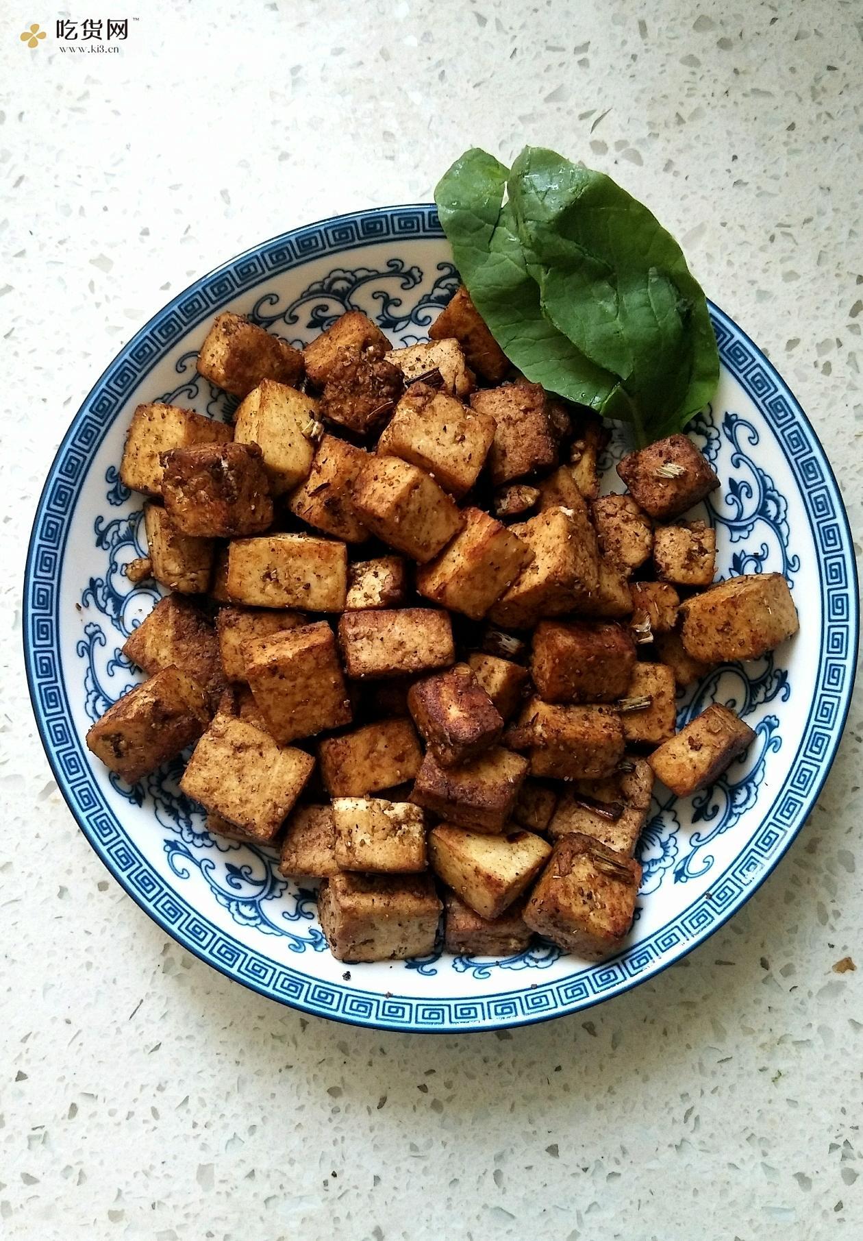 孜然炒老豆腐(减肥餐✌️)的做法 步骤5