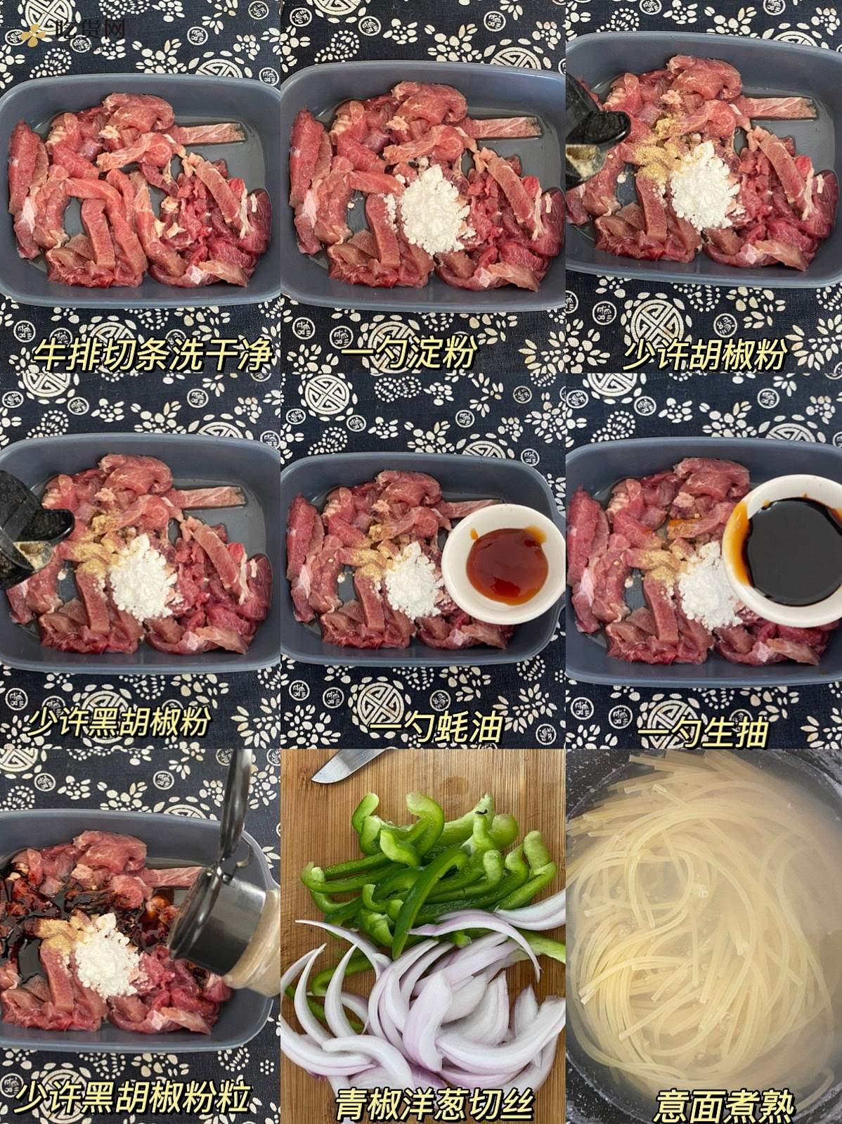 黑椒牛柳意面的做法 步骤1