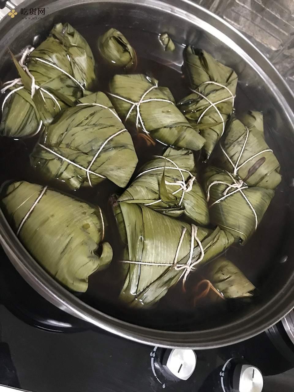 糯香的红枣花生红豆粽子的做法 步骤6