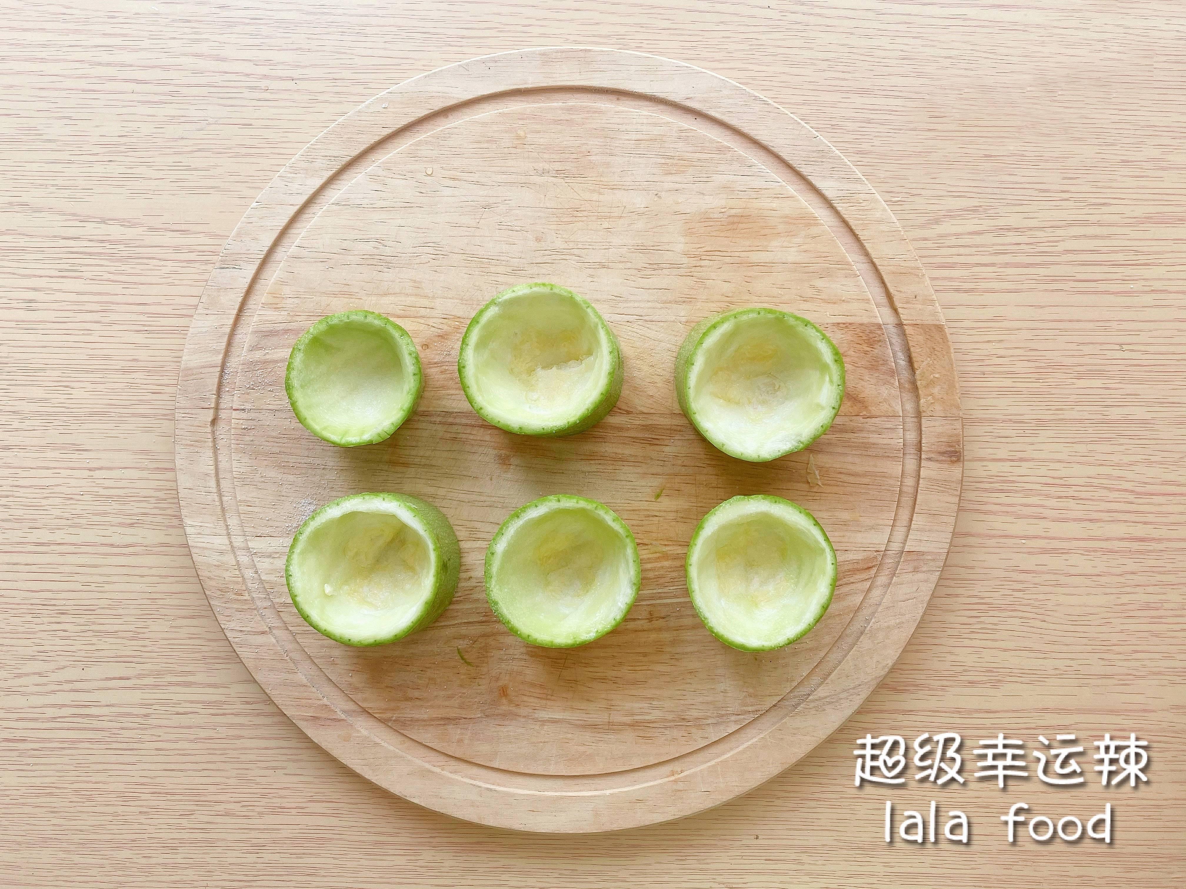 春季减肥餐🥗西葫芦低脂沙拉甜虾塔🍤的做法 步骤1