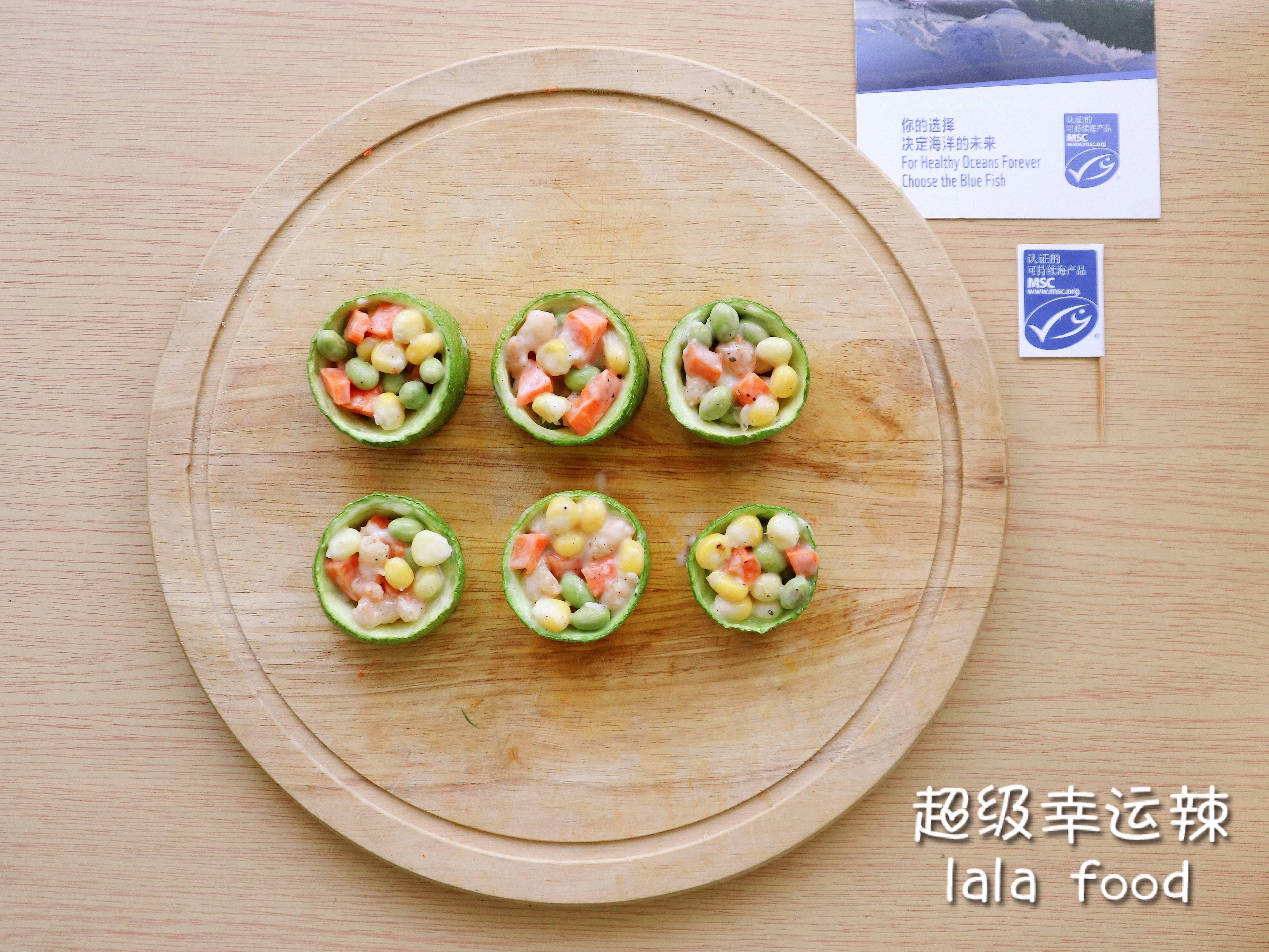 春季减肥餐🥗西葫芦低脂沙拉甜虾塔🍤的做法 步骤6