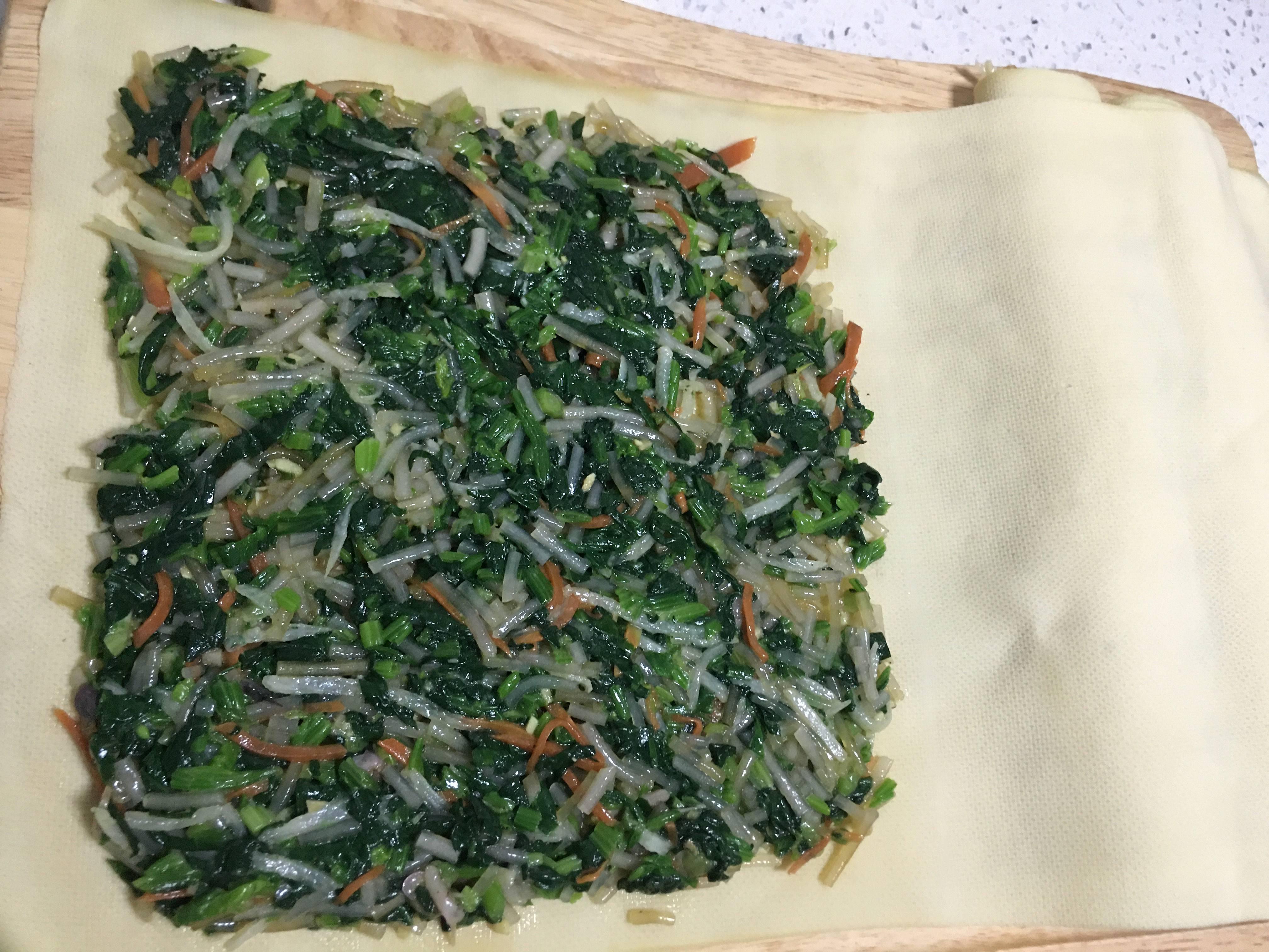网红明星减肥餐~豆皮蔬菜卷的做法 步骤9