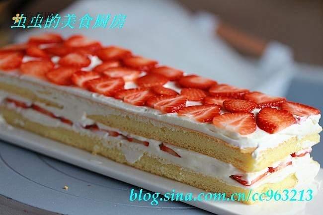 草莓城堡蛋糕的做法 步骤10