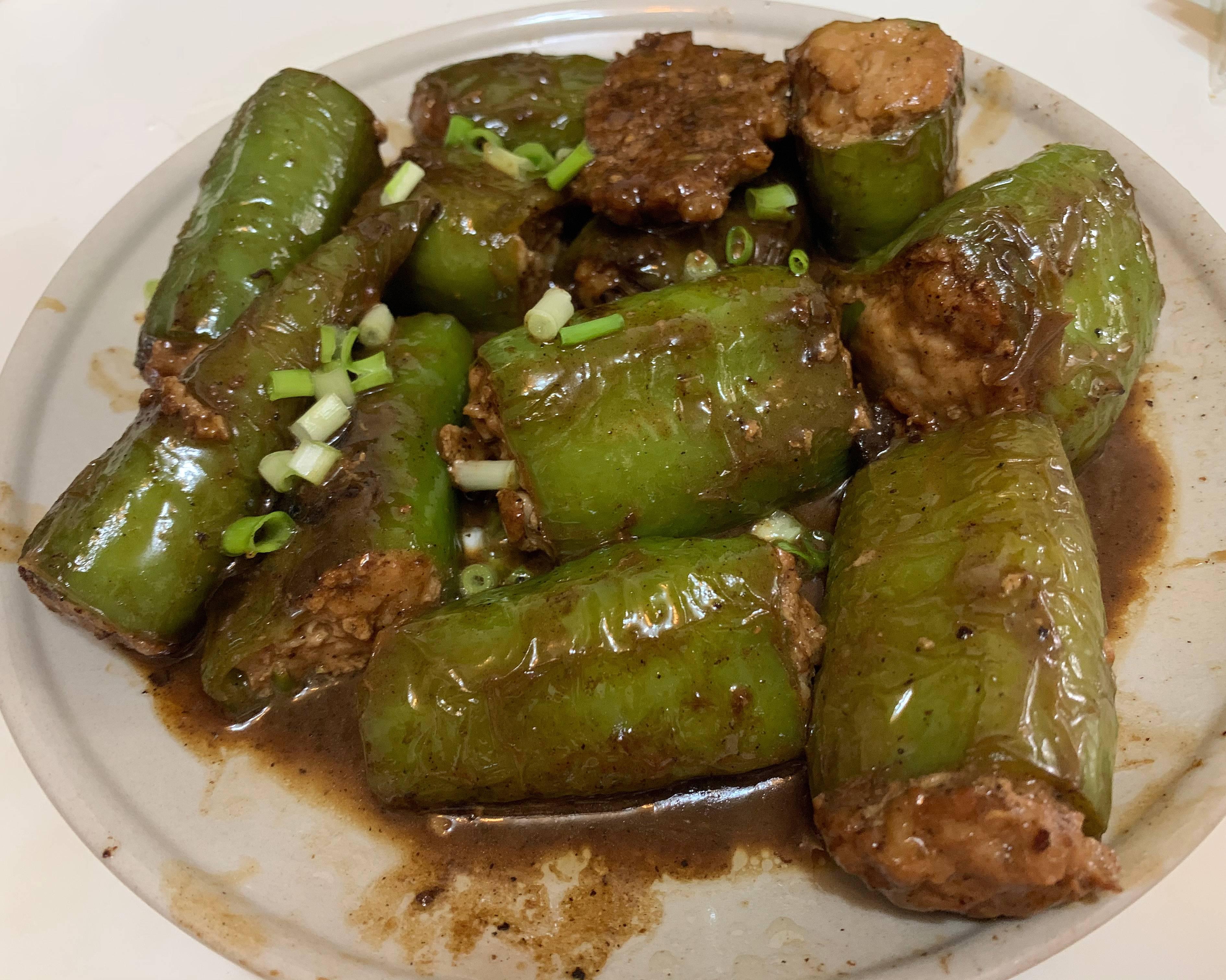 米饭杀手虎皮青椒酿肉的做法 步骤7
