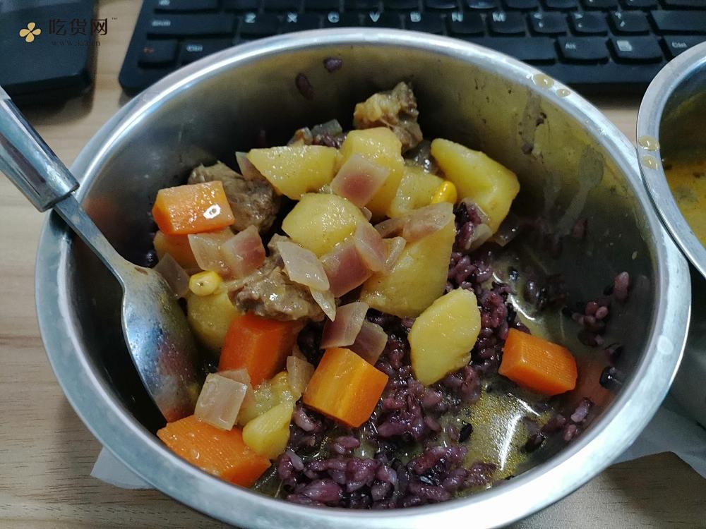电饭盒泰式咖喱牛排土豆胡萝卜配米饭的做法 步骤15