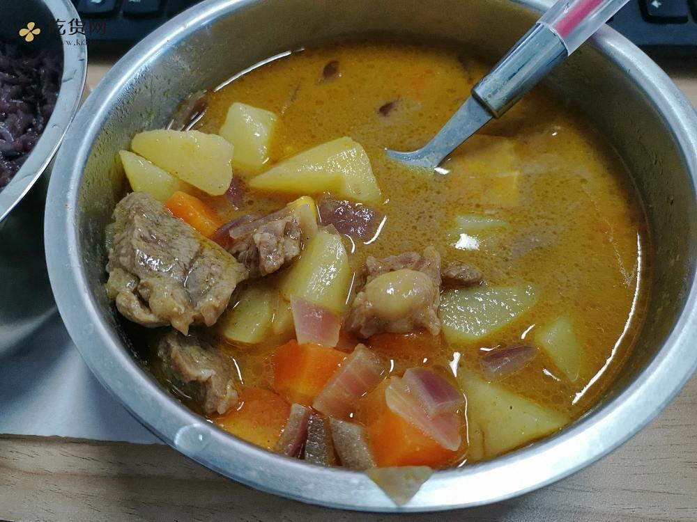 电饭盒泰式咖喱牛排土豆胡萝卜配米饭的做法 步骤14