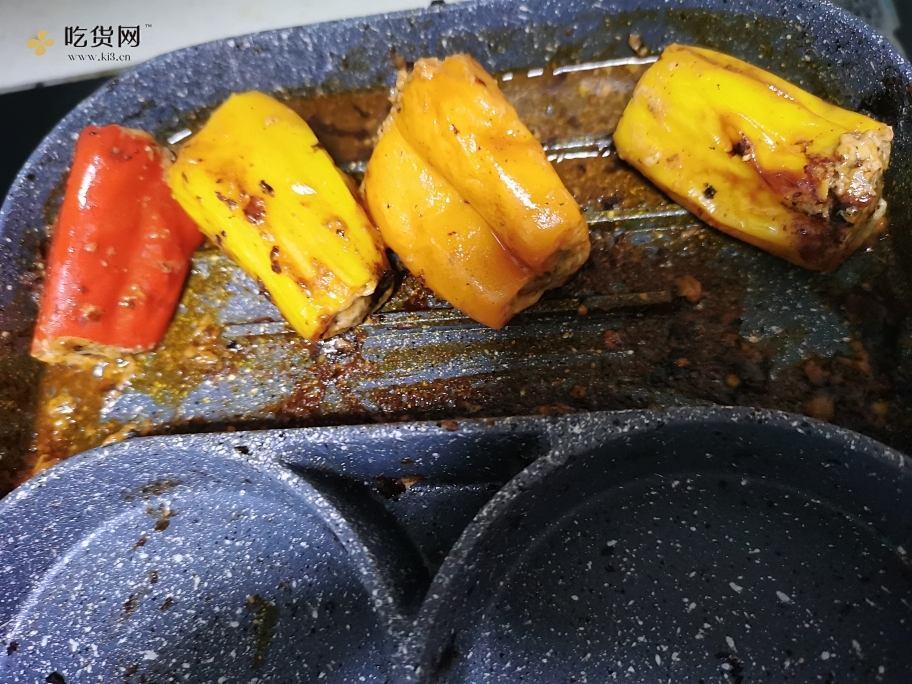 宝宝版虎皮尖椒酿肉的做法 步骤5