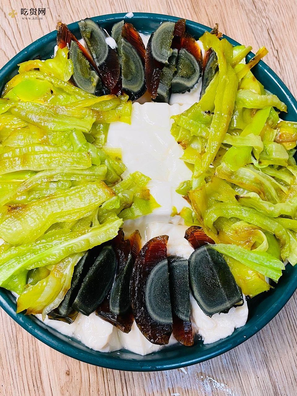 虎皮尖椒皮蛋拌豆腐——拯救没胃口的做法 步骤4