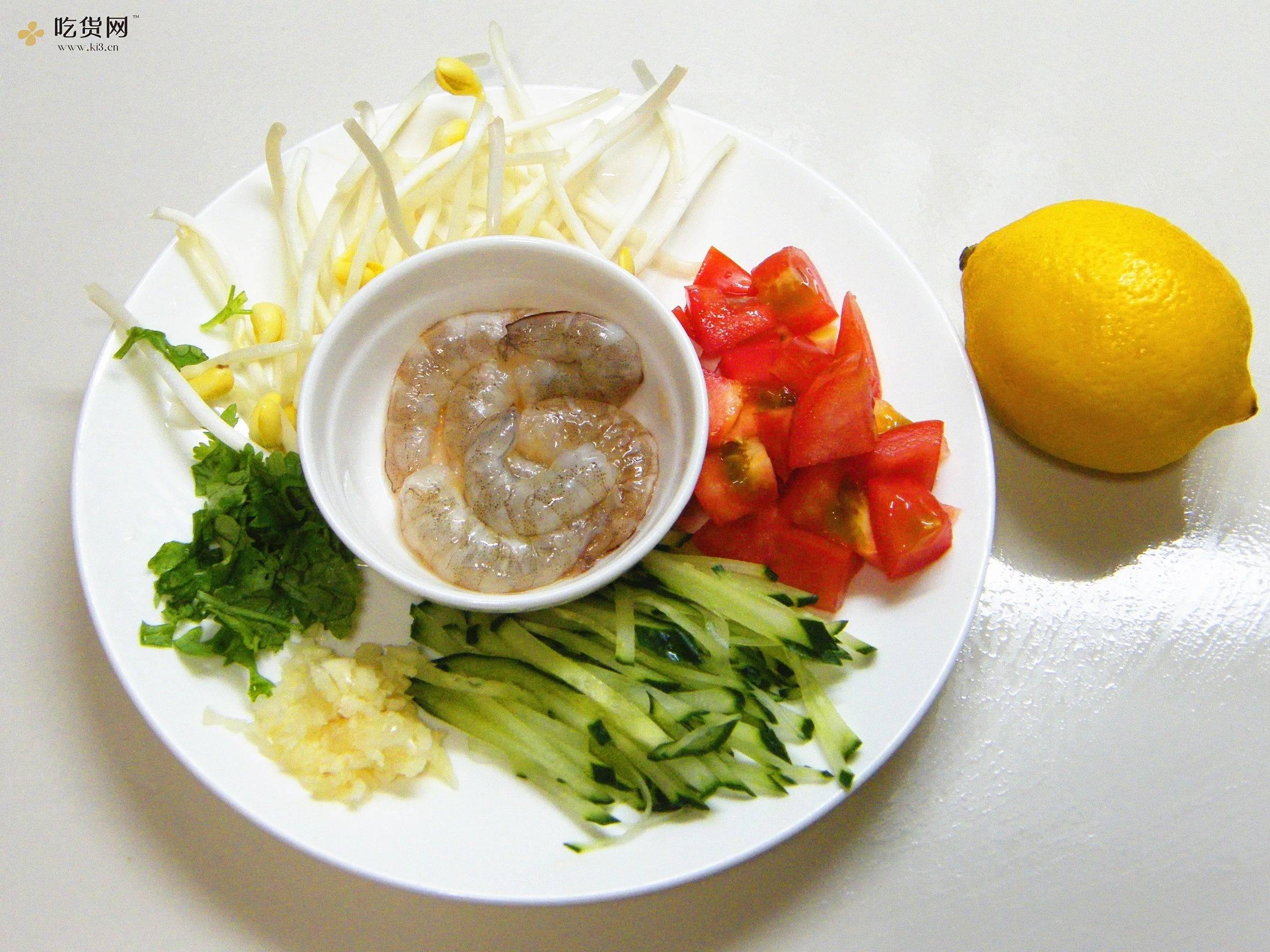 夏季开胃酸辣凉面的做法 步骤1