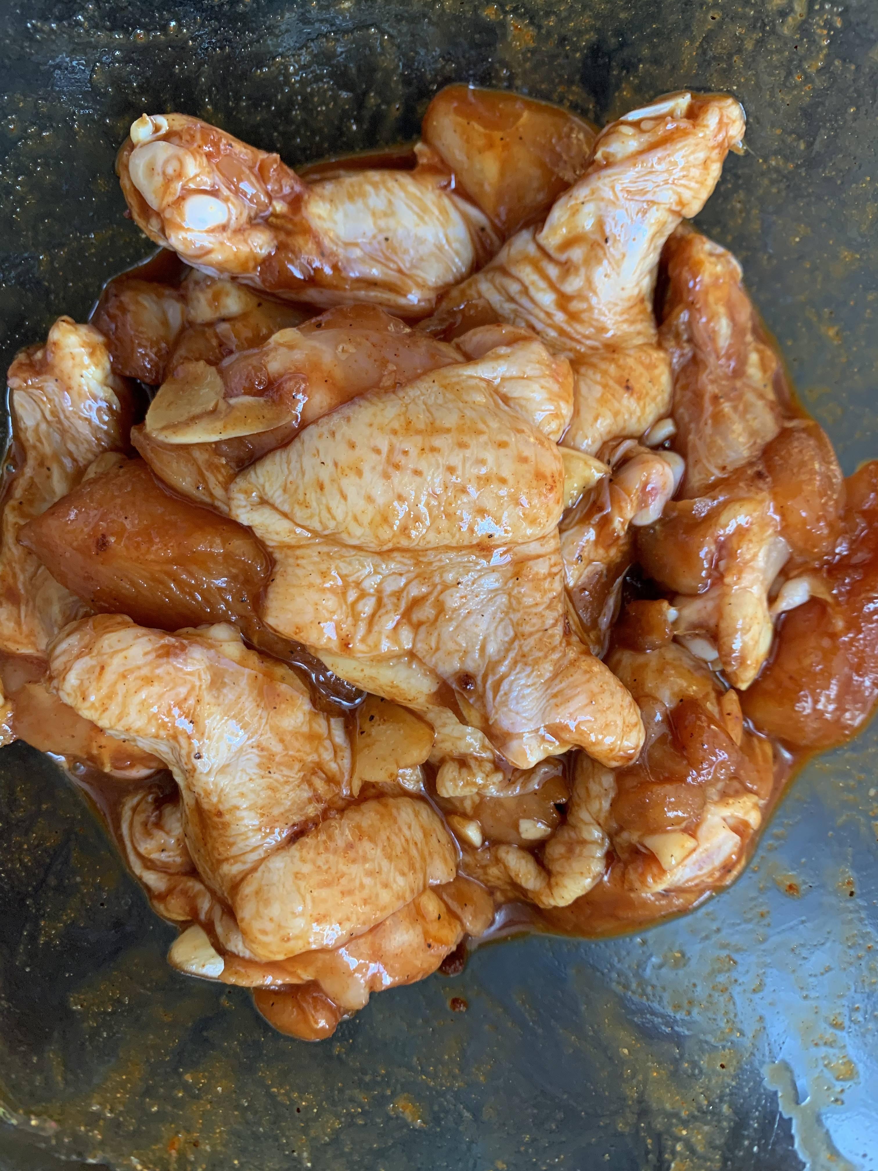 不加一滴油‼️柠香蜂蜜鸡翅根的做法 步骤4