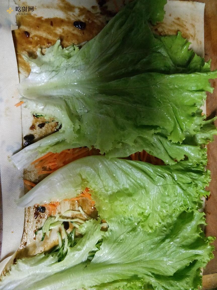 减肥餐-豆皮(千张)卷菜的做法 步骤8