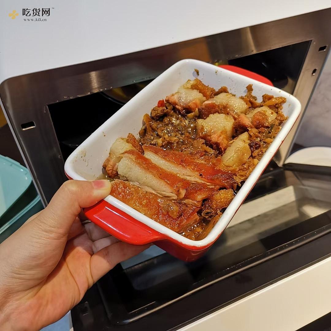 松下蒸烤箱jk180|梅菜蒸烧肉的做法 步骤3