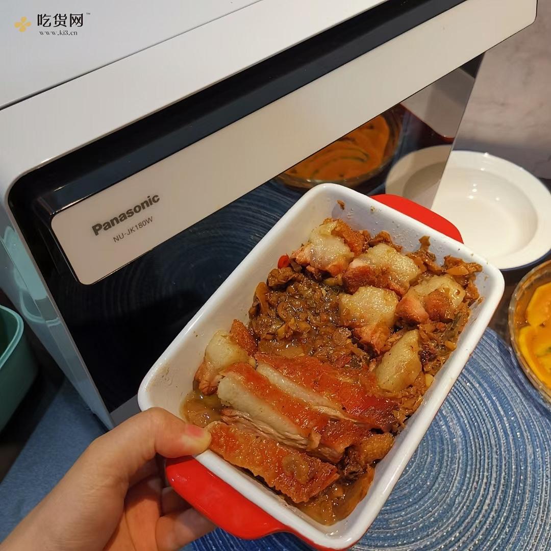松下蒸烤箱jk180|梅菜蒸烧肉的做法 步骤4