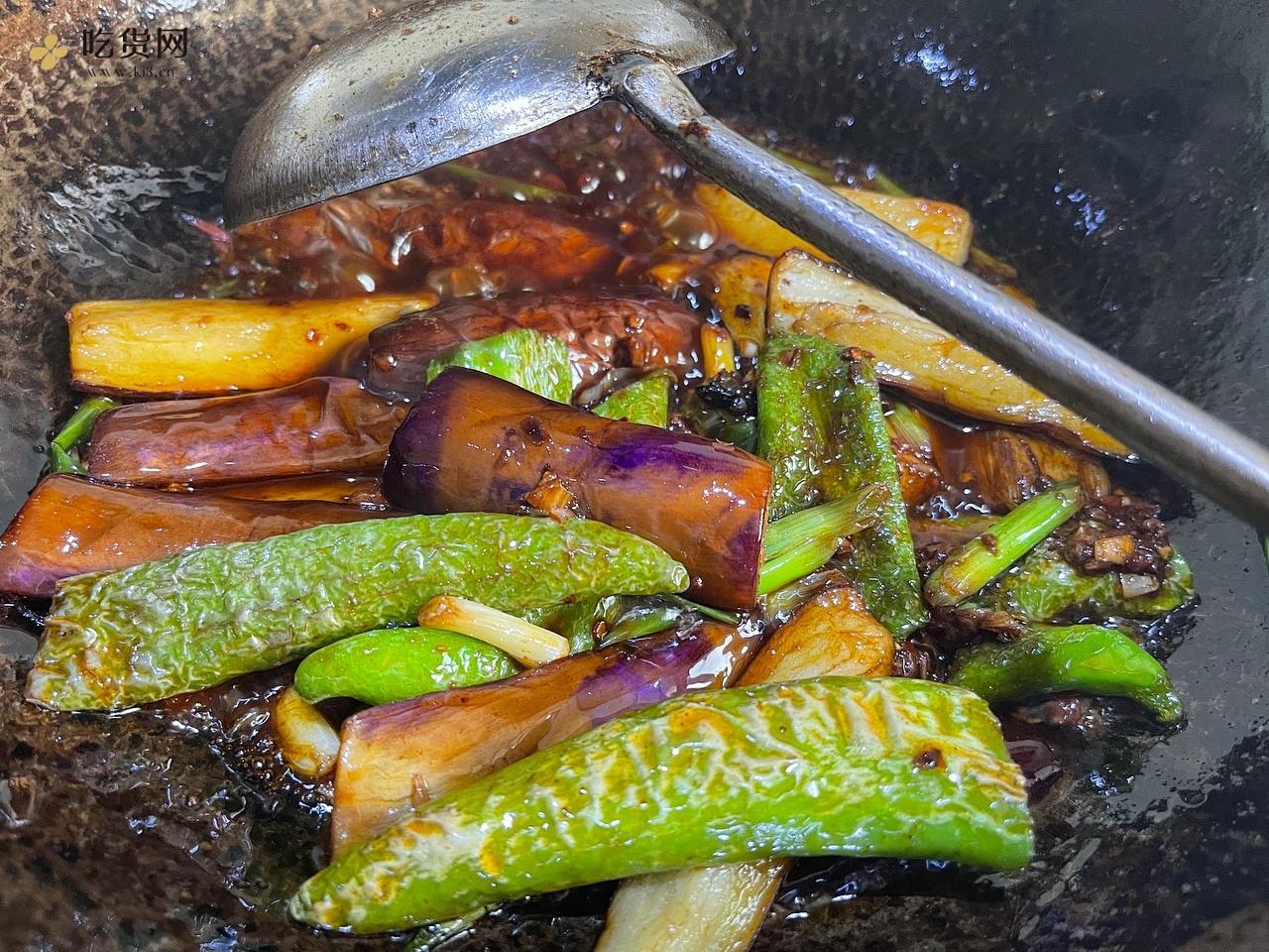 超级下饭|虎皮辣椒烧茄子🍆(零失误版)的做法 步骤10